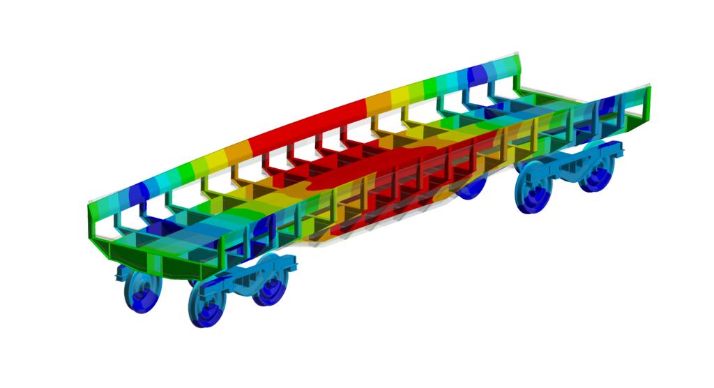 Simulation numérique - Ferroviaire - Analyse modale deuxiéme mode