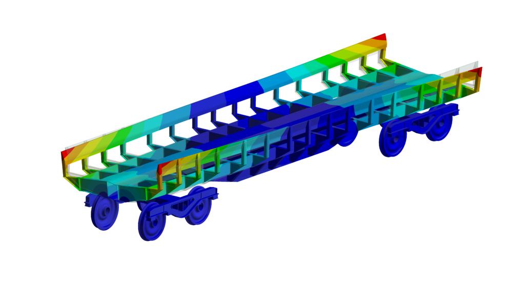 Simulation numérique - Ferroviaire - Analyse modale premier mode