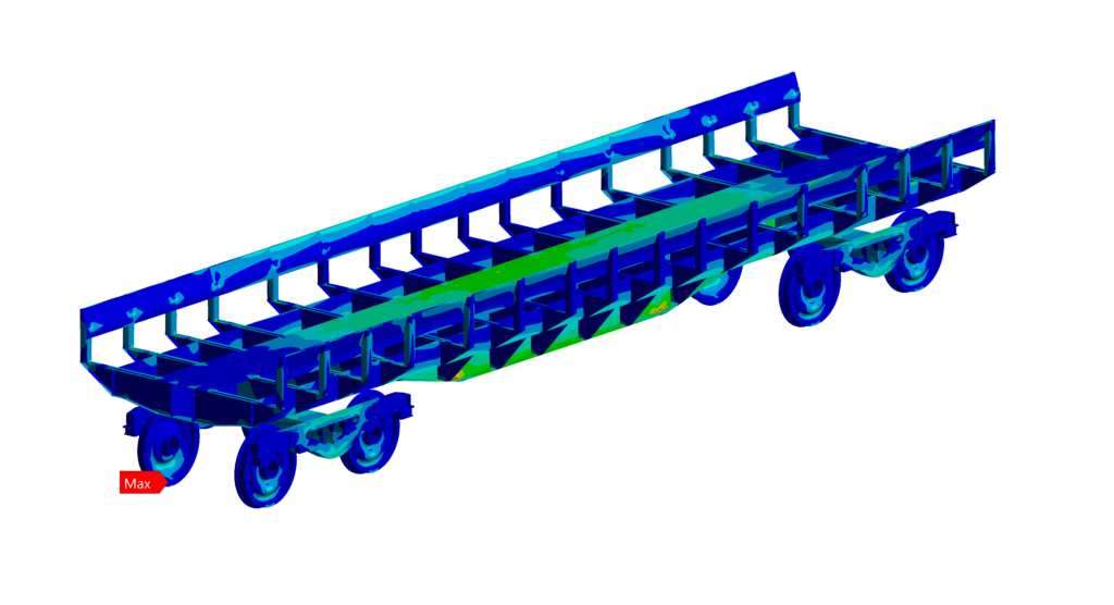 Simulation numérique - Ferroviaire - Contraintes de Von Mises