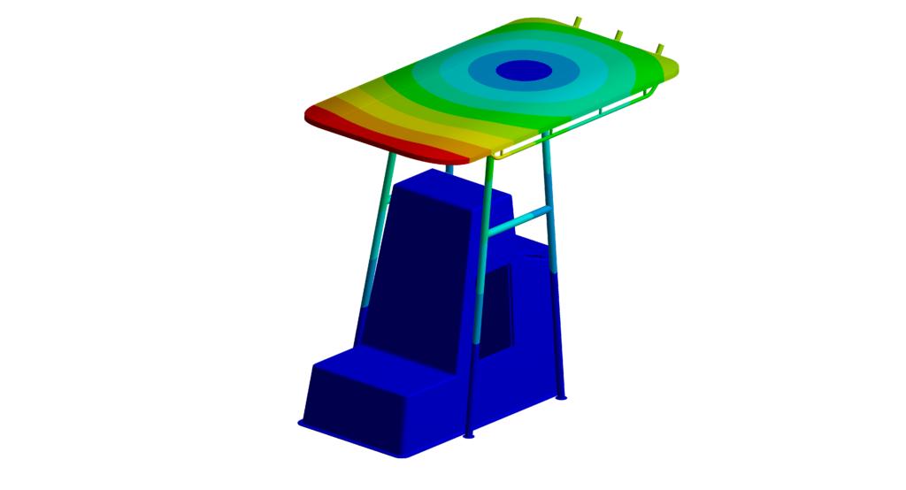 Bureau d'études mécanique et simulation numérique - Naval - Modal roof
