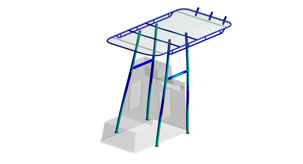 Bureau d'études mécanique et simulation numérique - Naval - Structure roof